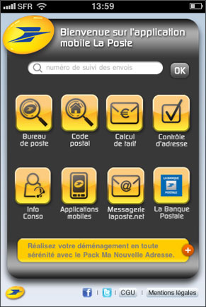 Bienvenue sur l'application mobile de La Poste